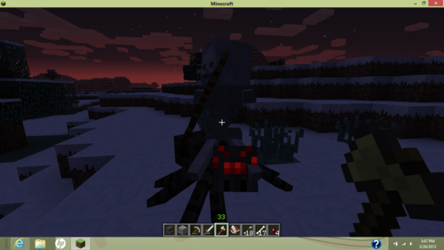 Minecraft images Spider Jockey HD wallpaper and background photos
