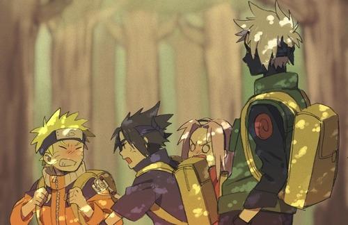 Naruto wallpaper entitled Team 7