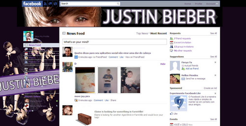 Theme for Facebook Justin Bieber