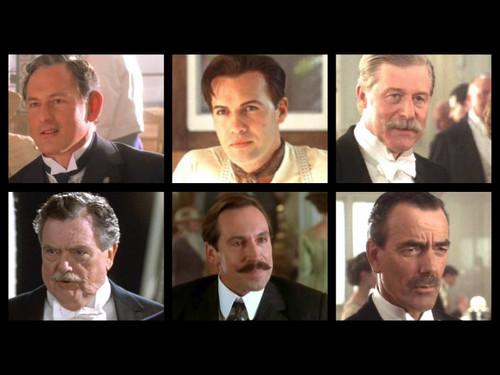 Titanic karatasi la kupamba ukuta containing a business suit titled Titanic Characters: 1st class men