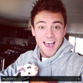 Tom with his new Micro Pig, Robby-Ray! - tom-daley photo
