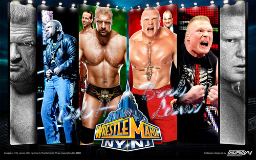 Triple H w/Shawn Michaels vs Brock Lesnar w/Paul Heyman - Wrestlemania 29