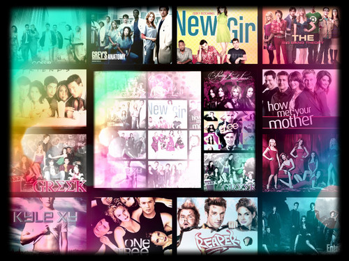 Tv shows collage