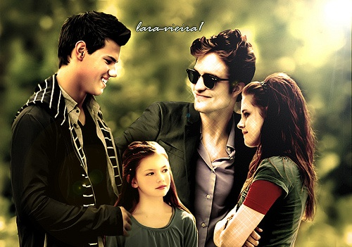 Twilight-Serie Hintergrund with sunglasses titled Twilight saga
