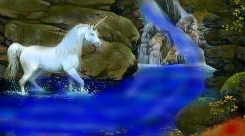 Water fall Unicorn
