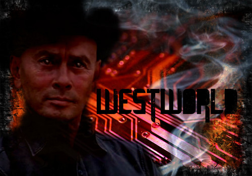 Yul Brynner wallpaper with a fire called WestWorld Poster