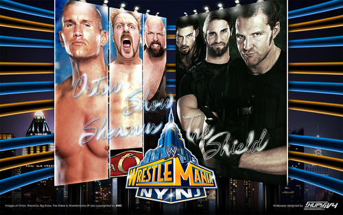 Randy Orton,Sheamus,Big 显示 vs The Shield - Wrestlemania 29