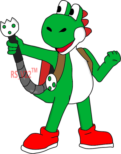 Yoshi and His Yoshi-fied Poltergust