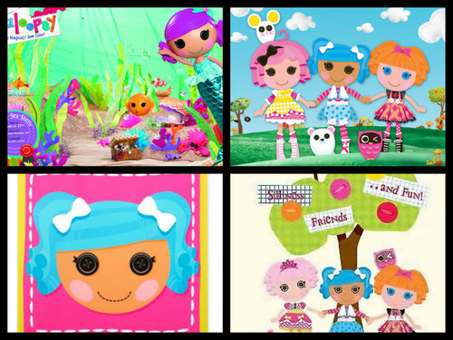 Lalaloopsy wallpaper possibly with a sign entitled birthdeay party