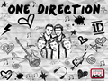 one-direction - drawing of 1d wallpaper