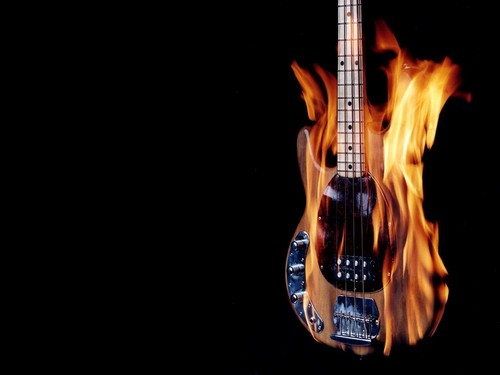 flaming violão, guitarra