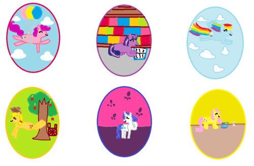 i made my little pony easter eggs!