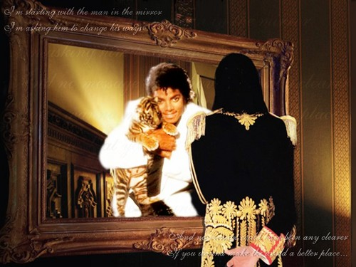 Michael Jackson wallpaper possibly containing a drawing room titled man in the mirror