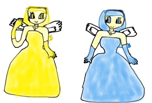 my OC's golden flake and snow flake are humanized によって me!