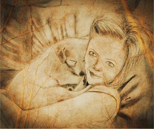 my Shirley Manson drawing