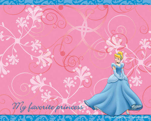Cinderella wallpaper entitled pink