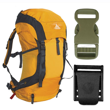 plastic fasteners for backpack