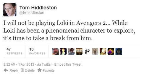 tom not playing loki :(