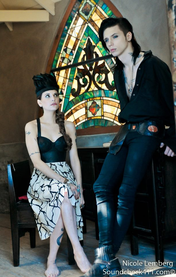 Andy biersack and juliet simms photo shoot