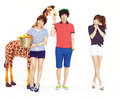 [CF] Lee Min Ki and KARA Ji Young and Seung Yeon - Unionbay SS 2013 - kara photo