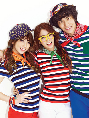 KARA 바탕화면 probably with sunglasses entitled [CF] Lee Min Ki and KARA Ji Young and Seung Yeon - Unionbay SS 2013
