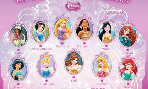 (German Website) ディズニー Princesses