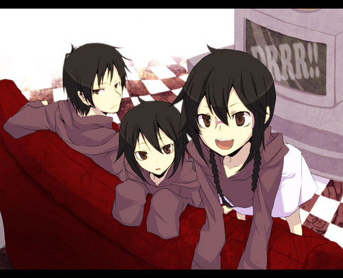 1Izaya Orihara 壁紙 possibly containing アニメ entitled ❤ Orihara Siblings ❤