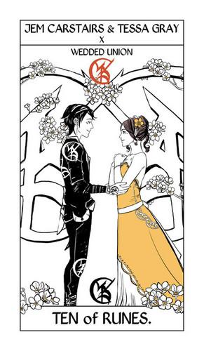*SPOILER* Cassandra Jean's Tarot Cards: Jem & Tessa {Ten of Runes}.