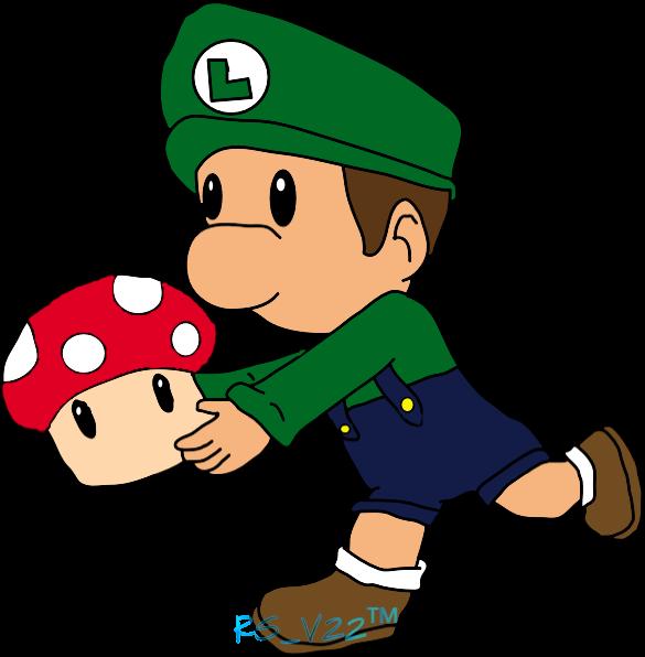 A Baby's Gotta Eat His Mushrooms