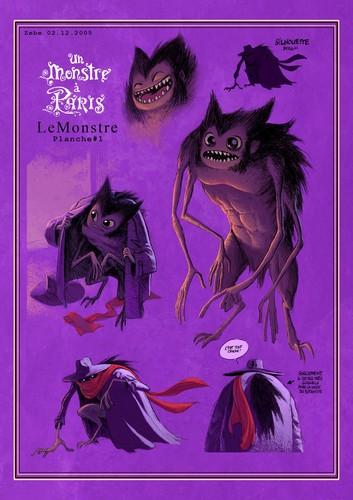 A Monster in Paris Concept Art