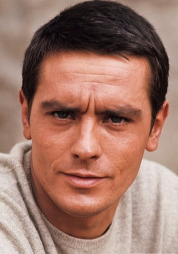 Alain Delon wallpaper possibly containing a jersey and a portrait titled Alain Delon