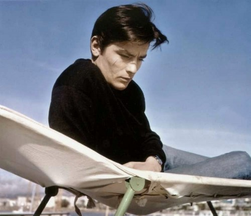 Alain Delon Hintergrund possibly with a barrow entitled Alain Delon