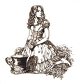Alice Line Drawings - alice-in-wonderland-2010 photo