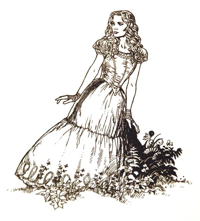 Alice Line Drawings