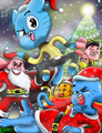 Amazing World Of Gumball. Chrismas জীবন্ত