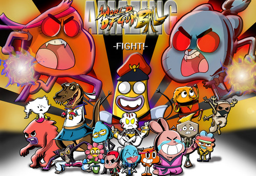 Amazing World Of Gumball Street Fighter 4