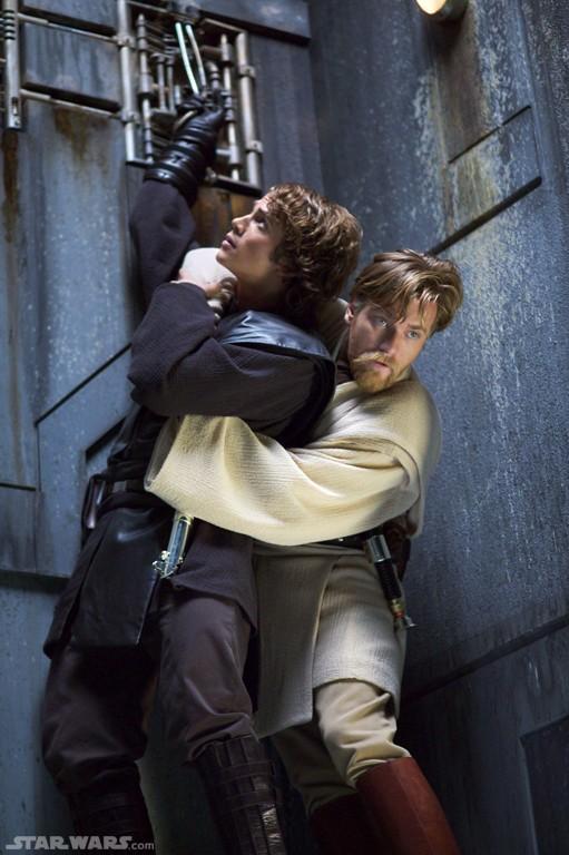 Anakin saving Obi-Wan