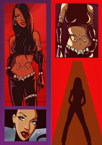 Aaliyah wallpaper possibly with anime called Animated Liyah