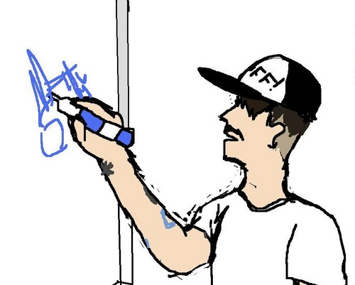 Anthony Kiedis signing dry-erase board