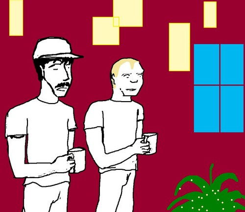 Red Hot Chili Peppers wallpaper possibly containing anime called Anthony and Flea