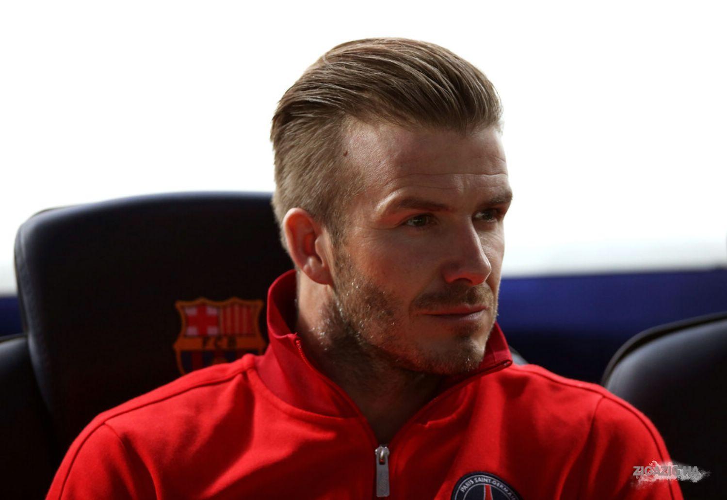 David Beckham Hairstyles 2014 April 9th - Barcelona ...