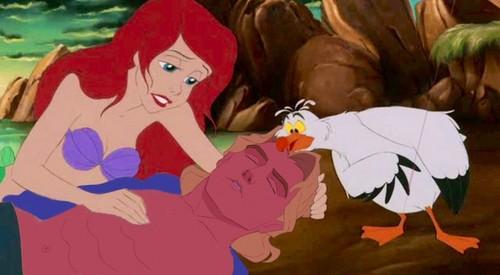 Ariel saves John