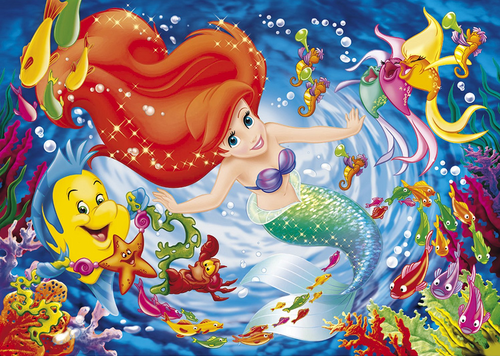 The Little Mermaid kertas dinding titled Ariel