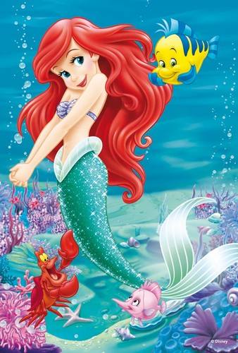 the little mermaid wallpaper containing anime entitled Ariel