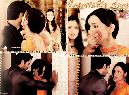 Iss Pyar Ko Kya Naam Doon wallpaper possibly containing a bouquet and a bridesmaid titled Arnav & Khushi