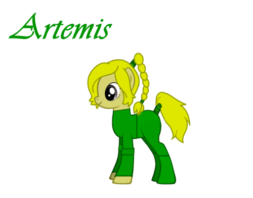 Artemis as a pony
