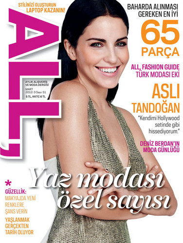 Asli Tandogan on the cover of All Magazine