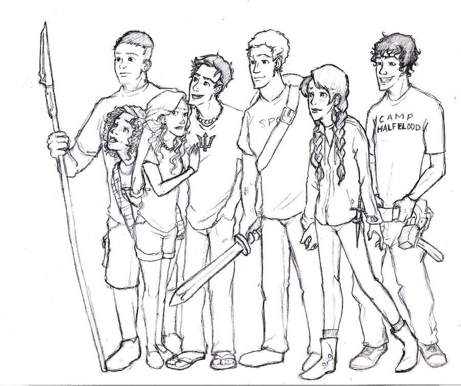 camp half blood coloring pages - photo#1
