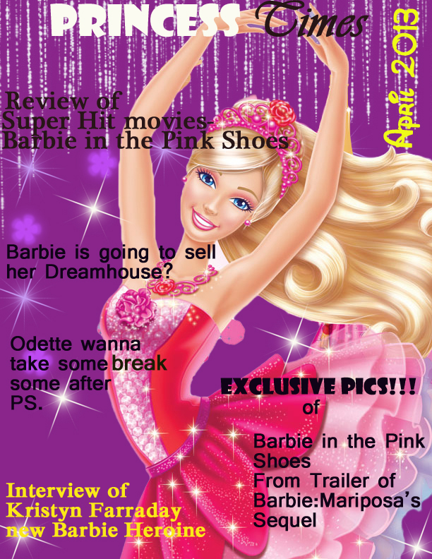 Barbie Magazine cover made by me