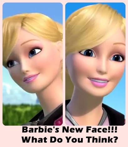 "Barbie's New Face in ""Barbie & Her Sisters in A kuda, kuda kecil Tale"""